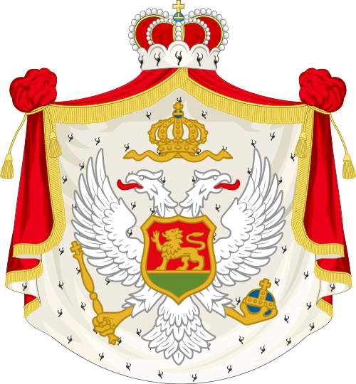 Archivo:Coat of arms of the Kingdom of Montenegro.svg