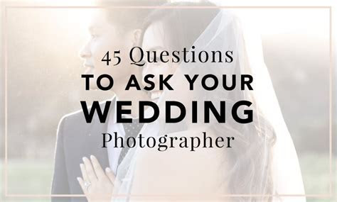 45 Questions to Ask Your Wedding Photographer   Cake