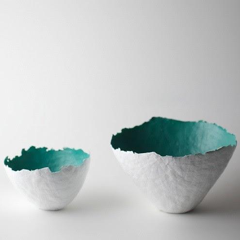 Aqua Color Burst Bowls