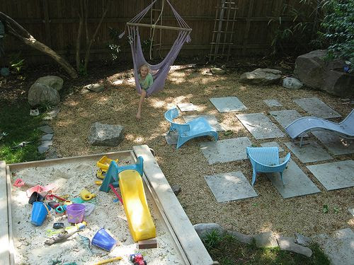 Kid friendly backyard without grass