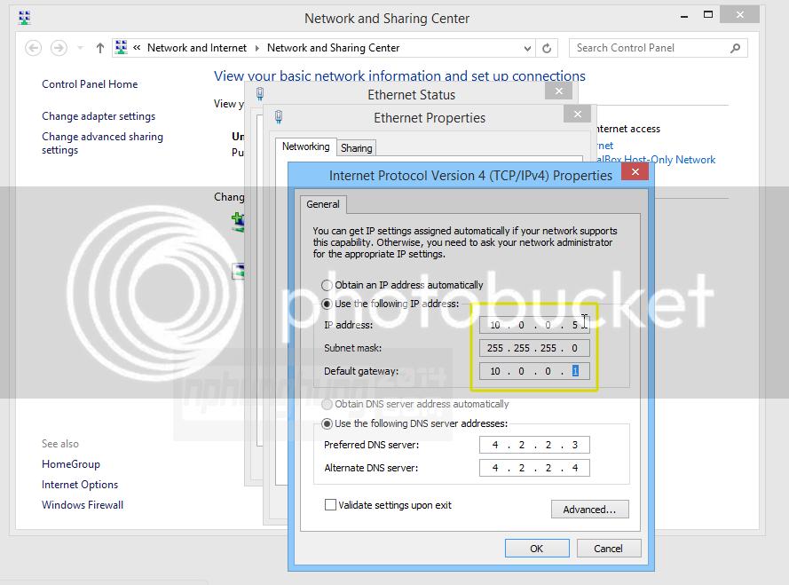 Đặt lại IP của máy tính cùng lớp mạng với Router