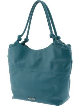Women: Leather tote - Ocean teal 837