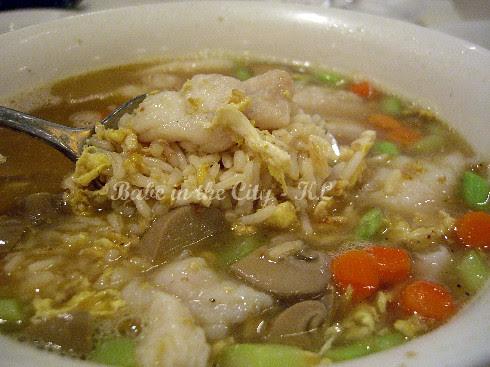 My bowl of soupy fried rice