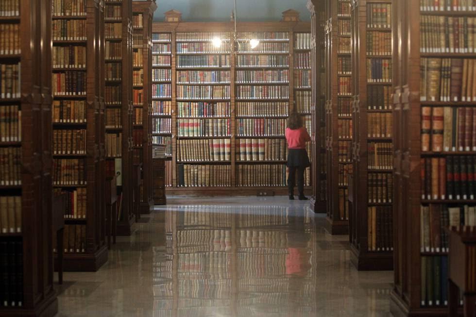 Biblioteca de la Real Academia de la Lengua Española, en Madrid.