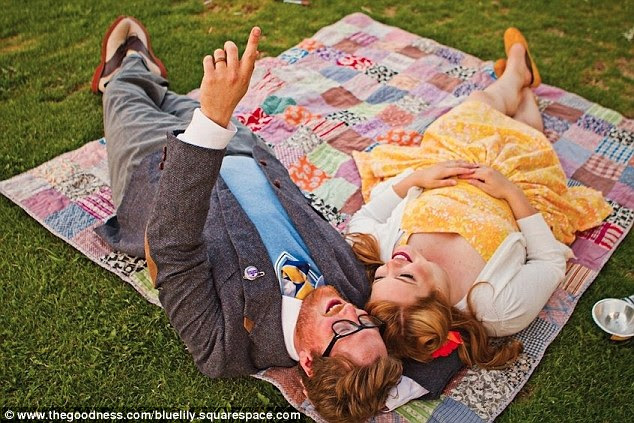 Daydreaming: Taken from another scene from the film, the Bardots picnic outside and point up at the clouds breezing by