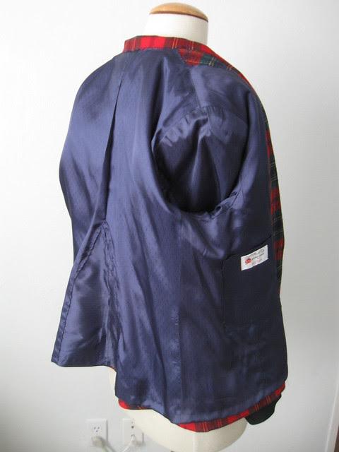 plaid jacket lining