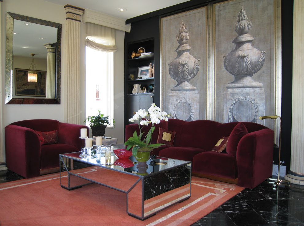 Pretty Coffee Urn In Living Room Traditional With Modern