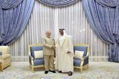 The contract was signed in Abu Dhabi in the presence of Abu Dhabi Crown Prince Sheikh Mo   hamed bin Zayed al-Nahyan and Prime Minister Narendra Modi. Photo: PTI