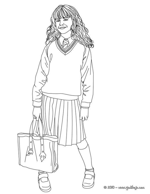 Dibujos Para Colorear Emma Watson En Hermione Granger Eshellokidscom
