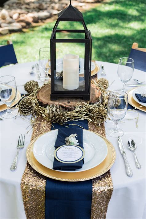 Navy and Gold Wedding Inspiration   Bride Link