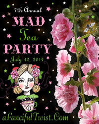 A Fanciful Twist Mad Tea Party 2014 button
