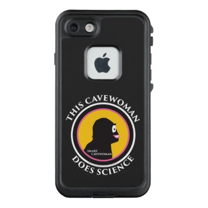 Fre LIfeproof iPhone Case Science Smart Cavewoman