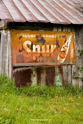 Rusty Spur Sign on Old Shed, Pike County, Ohio