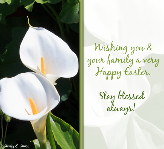 Blessings And Easter Wishes Free Flowers Ecards Greeting Cards
