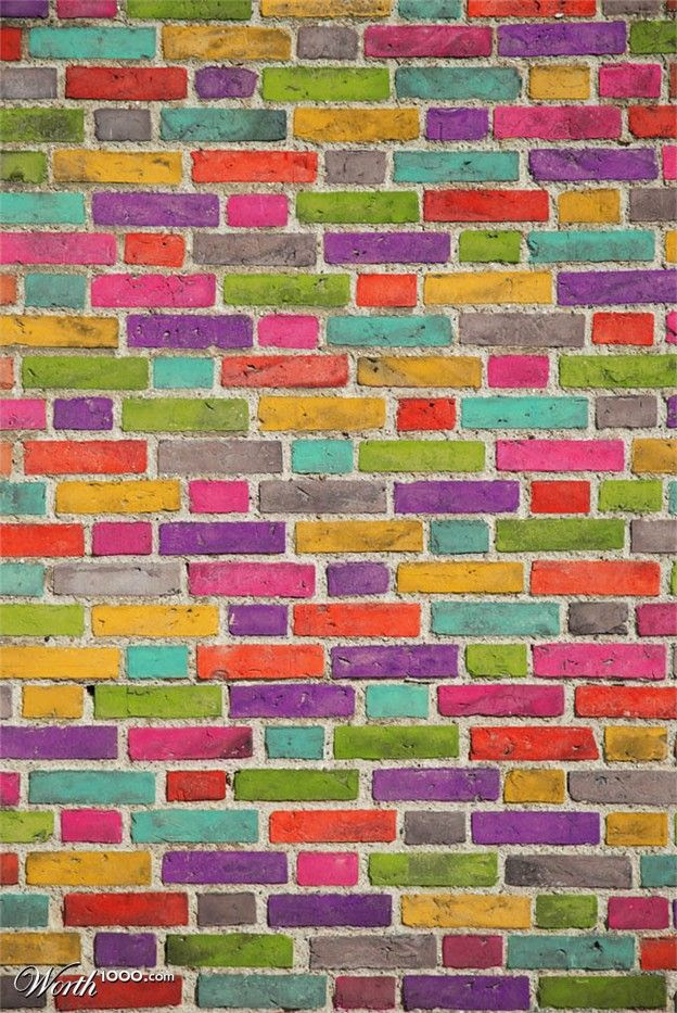 Colorful bricks!
