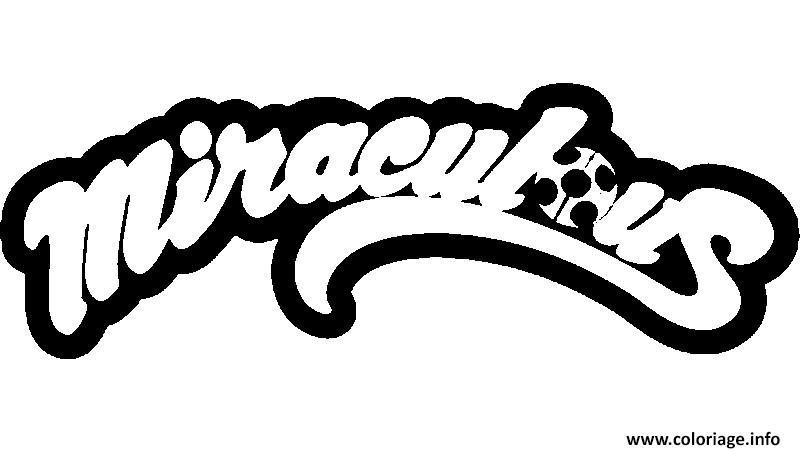 Coloriage Miraculous Ladybug Logo Jecoloriecom