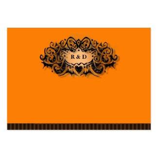 Wedding Seating Cards BLANK Halloween Orange Black