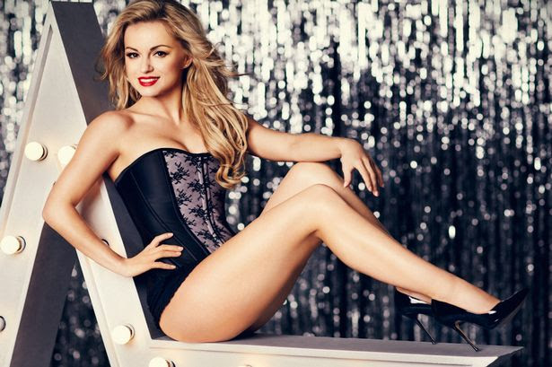 Boux Avenue lingerie range, modelled by Strictly Come Dancing star Ola Jordan