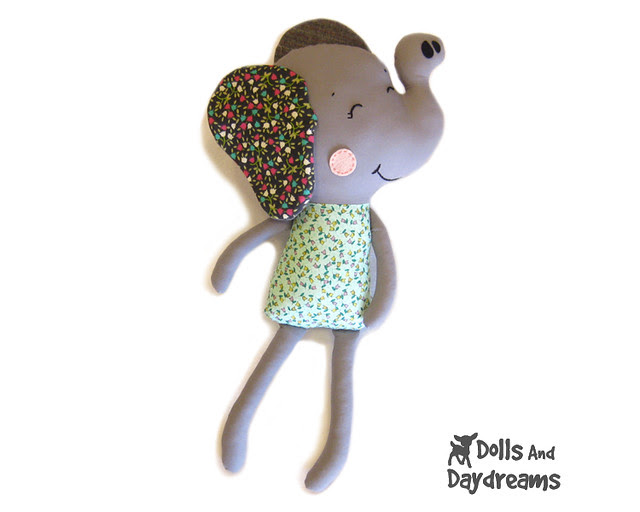 Elephant sewing pattern Nellie 2 copy