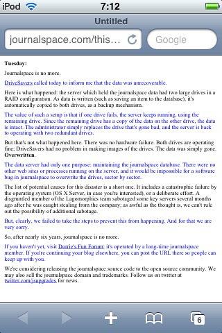 RIP Journalspace.com by Mikey aka DaSkinnyBlackMan.