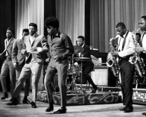 Brown (middle) & The Famous Flames (far left t...