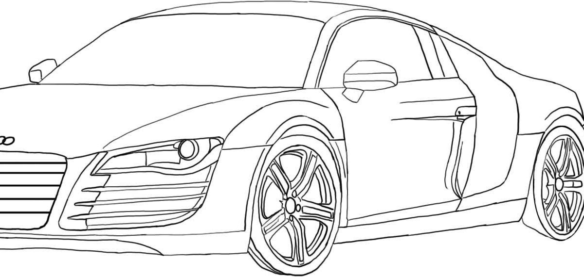audi r8 coloring pages  bowstomatch