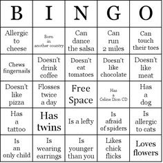 Reunion Activities | Herzinger Reunion Human BINGO Bingo Cards to ...