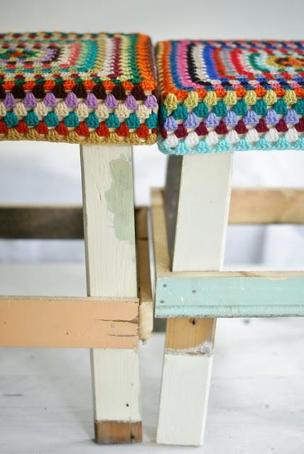 wood & wool stools ellis & jana