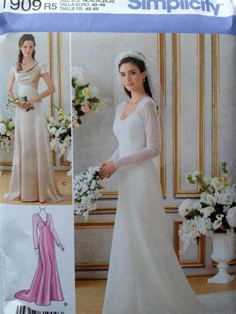 Misses Plus Size Wedding Dress Pattern, Simplicity 1909