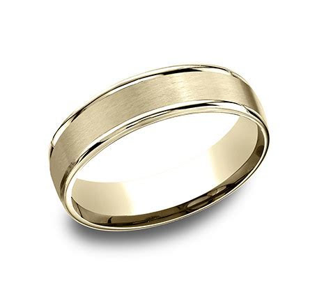 BENCHMARK Rings 14k White Gold Mens High Polish Wedding Band
