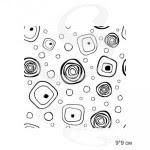 Штамп Абстрактные круги бесшовный фон