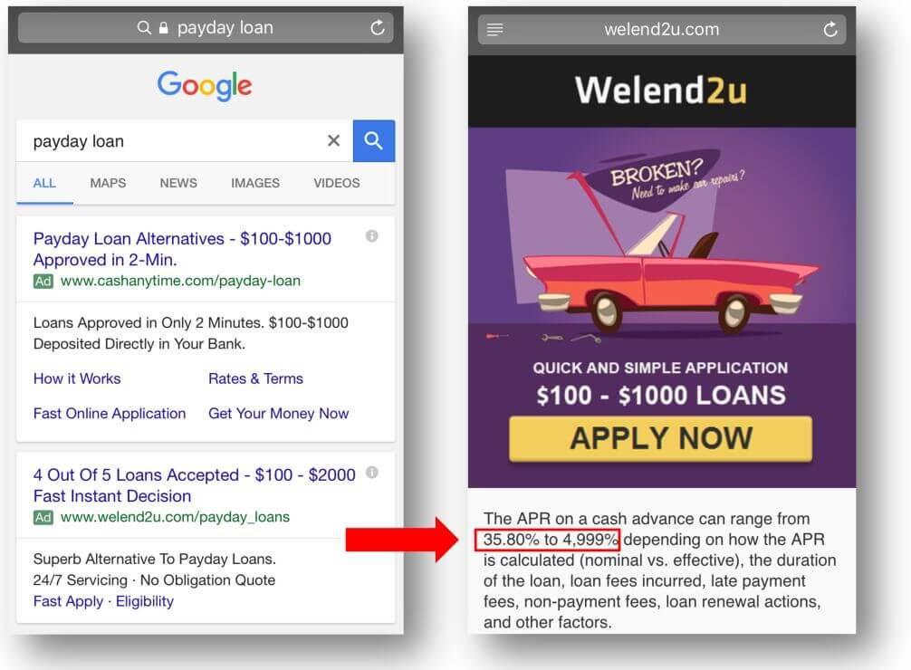 paydayloans google welend2u highARPs