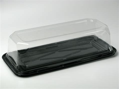"""Long Bar Cake Container 14 x 5.5 x 3.5""""   60/Case"""