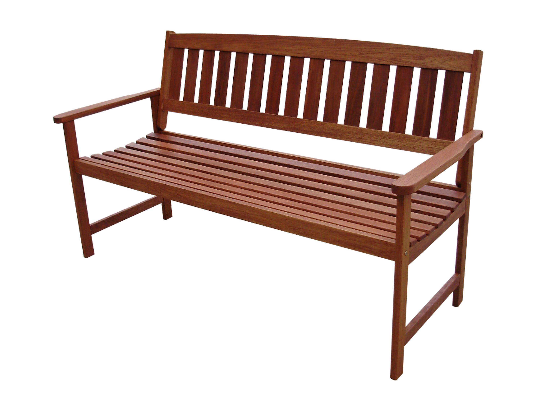 VonHaus 3 Seater Hardwood Wooden Garden Bench Outdoor ...
