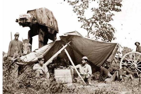 Star Wars Photo Ancienne 10 Star Wars intégré à des photos anciennes