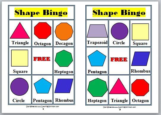 Kids bingo printable