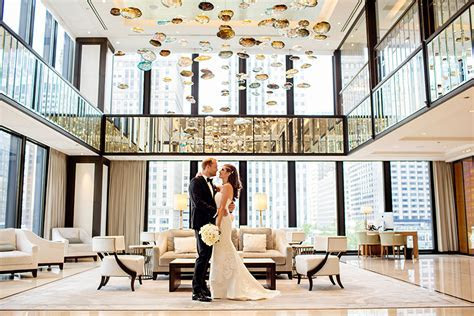 Langham Hotel Chicago Wedding Photos   Meredith & Josh