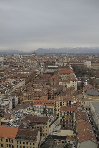 View of Torino from observation deck 6