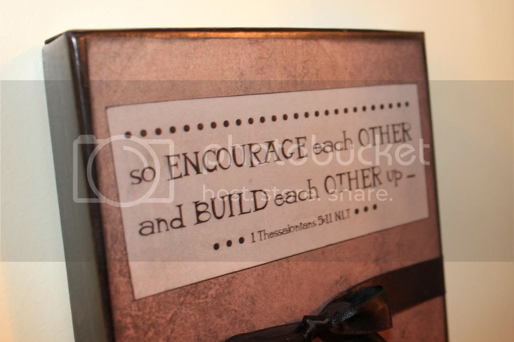 encourage each other - shoebox wall canvas