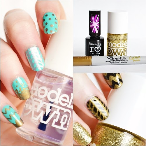 Easiest Nail Art Ever With Sharpie Markers!