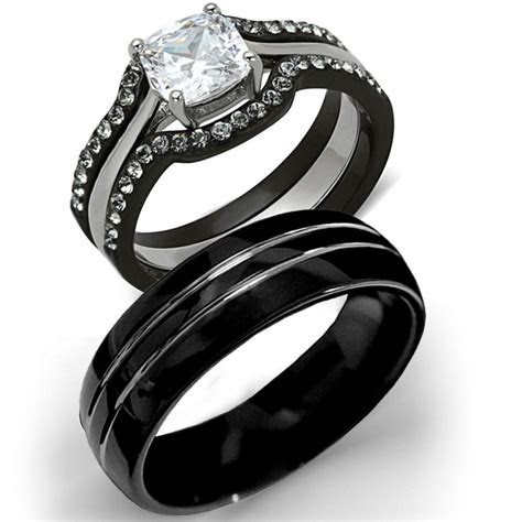 Gallery tungsten wedding sets for him and her   Matvuk.Com