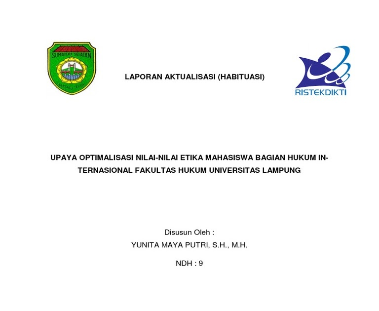 Laporan Aktualisasi Cpns Kementerian Atr - Laporan ...