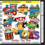 Andys Toy Box Clipart - CU