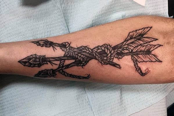 50 Traditional Arrow Tattoo Designs For Men Archery Ideas