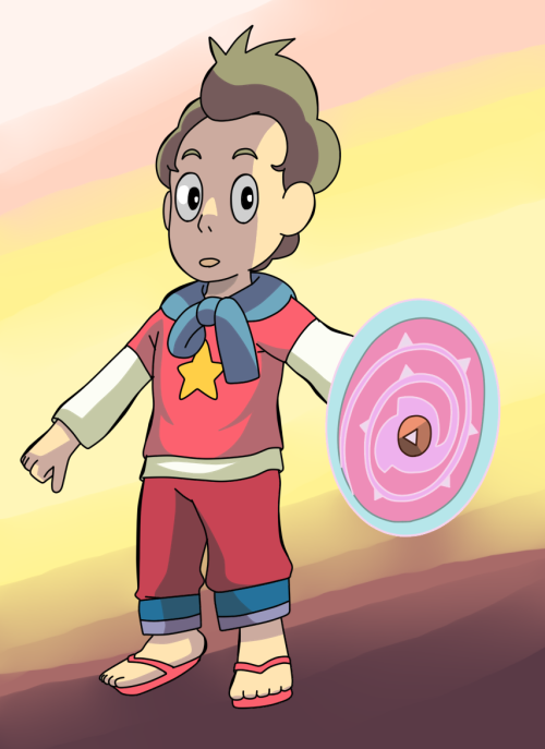 Stevonion! The fusion between Steven and Onion.