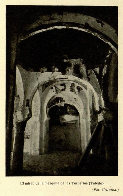 Mezquita de Tornerías, publicada en 1914, el mirab, Fot. Villalba