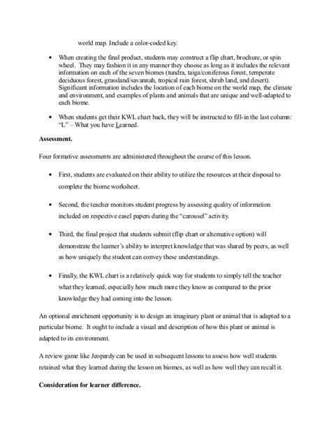 Biomes lessonplan