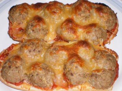 Lamb Meatball Sandwich