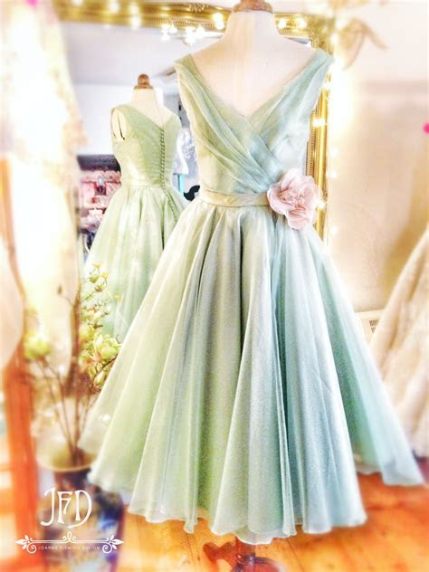 Joanne Fleming Design; mint green and soft pink silk