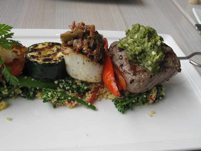 meat and fish brochette 3